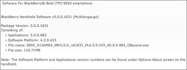 9650 OS Upgrade