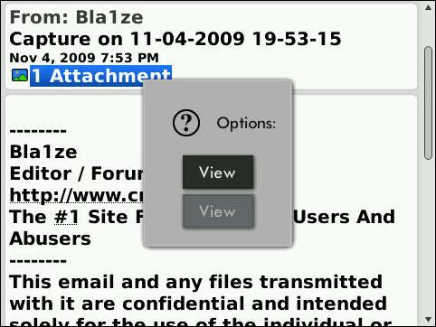 BlackBerry Bold 9700 System Menu