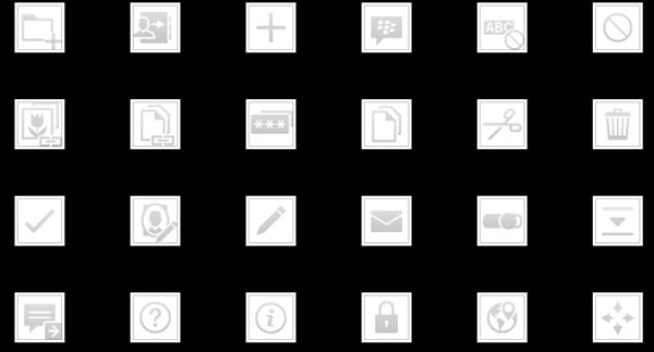 BlackBerry 10 Icons