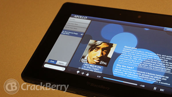 Apollo serves up Pandoras streaming music to your BlackBerry PlayBook