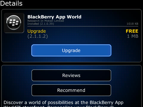 BlackBerry App World v2.1.1.2 now available for download