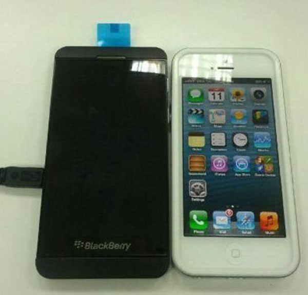 BlackBerry L-Series gets sized up next to the iPhone 5, makes homescreen buttons look silly