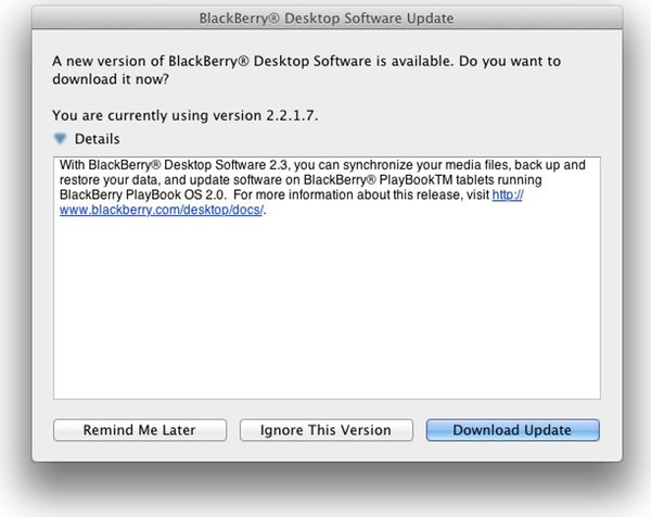 BlackBerry Desktop Software v2.3