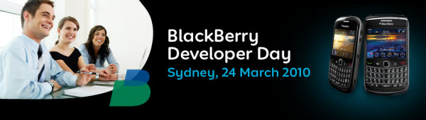 Registration Now Open For Australian BlackBerry Developers Day