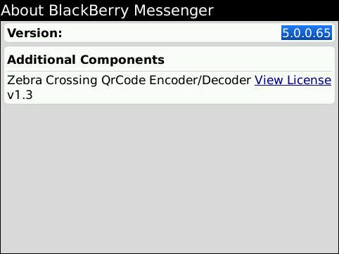 Leaked: BlackBerry Messenger 5.0.0.65