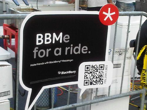 Seen any BlackBerry barcodes lately while out and about?