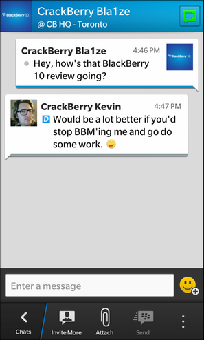 BBM On BlackBerry 10