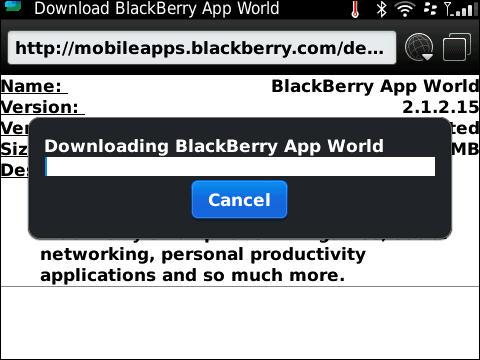 BlackBerry App World Updated To v2.1.2.15