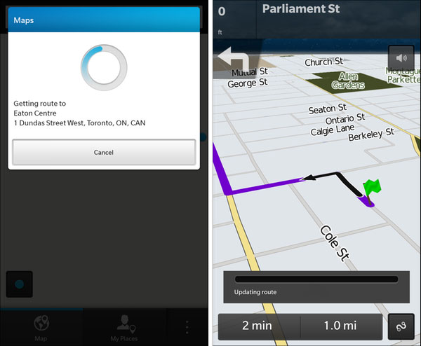 BlackBerry Maps Navigation