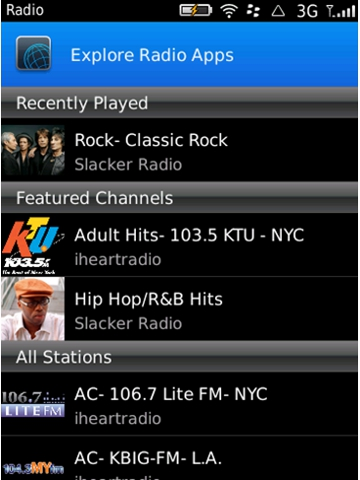 BlackBerry Radio