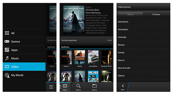 BlackBerry World Videos & Music