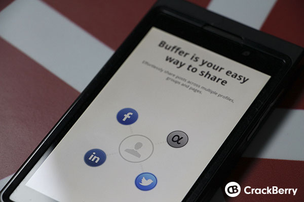 Buffer app comes to BlackBerry 10