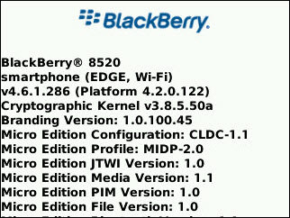 Leaked: BlackBerry Curve 8520 OS 4.6.1.286