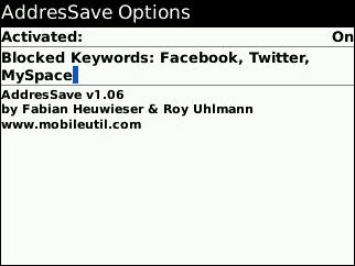 Addressave for BlackBerry!