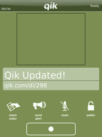 Qik Updated For BlackBerry Storm!