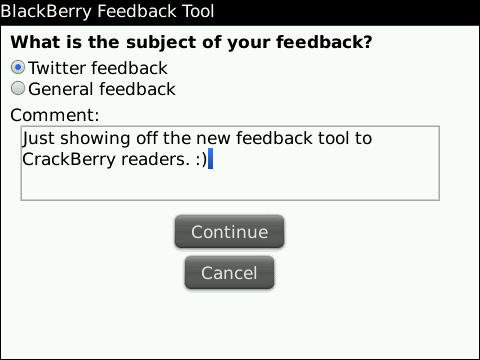 Research In Motion introduces new feedback tool to BlackBerry Beta Zone users