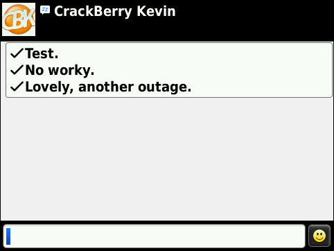 Another Data Outage For BlackBerry Users?