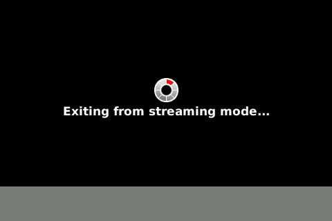 Exiting Streaming Mode!