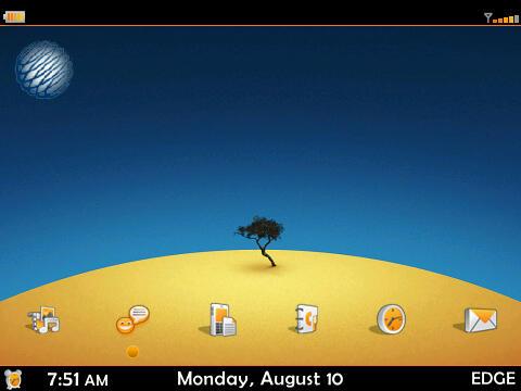 Orange- A Sexy Free BlackBerry Curve 8900 Theme!