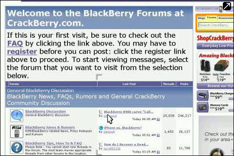 CrackBerry Forums On Skyfire!
