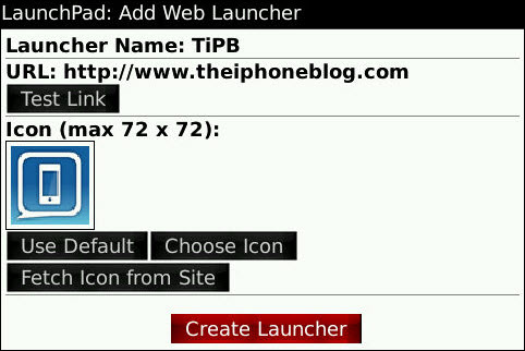 LaunchPad- Create Your Own BlackBerry Launchers On Your Device