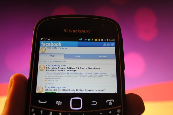 Facebook for BlackBerry updated to version 3.1.0.9 in ...