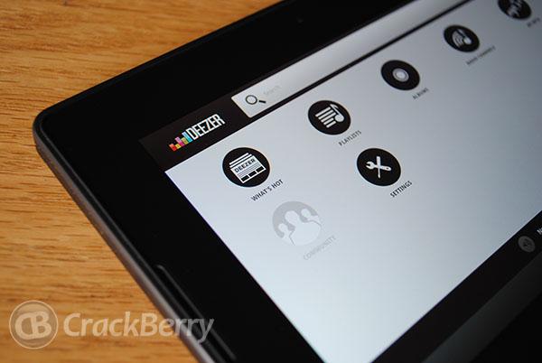 Deezer for PlayBook