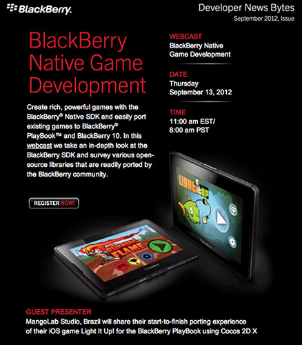 BlackBerry Native Game Development