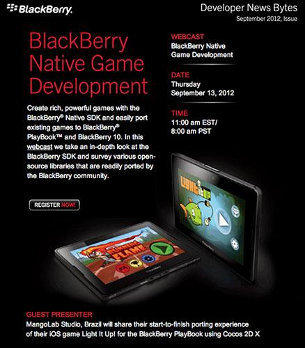 BlackBerry Native Game Development