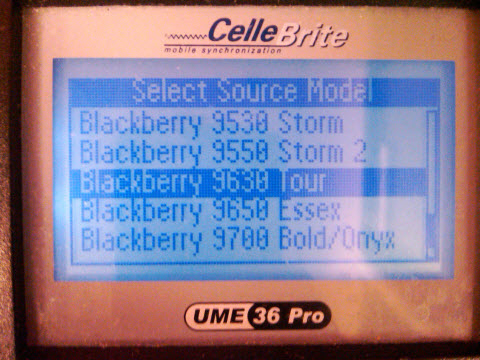 BlackBerry Tour 2 9650 Appears In CellBrite System