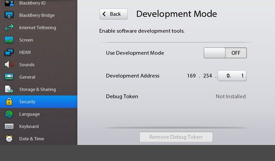 Enabled Dev Mode
