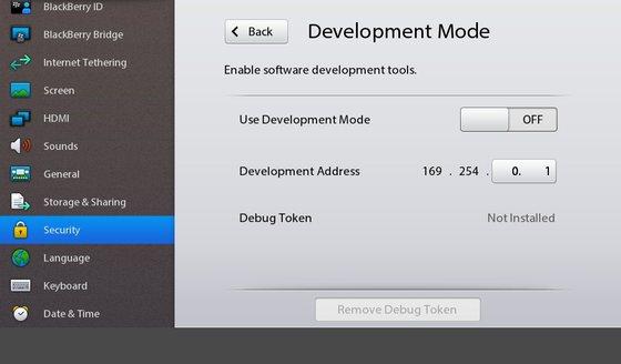 Enabled Dev Mode