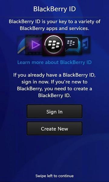 BlackBerry 10 Set Up