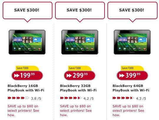 BlackBerry PlayBook - All models now $300 off at Futureshop!