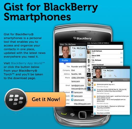 Gist For BlackBerry