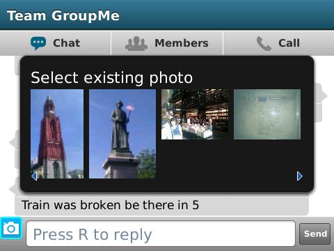 GroupMe for BlackBerry 2.0