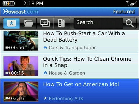 "Get ""How To"" Videos From HowCast On Your BlackBerry"
