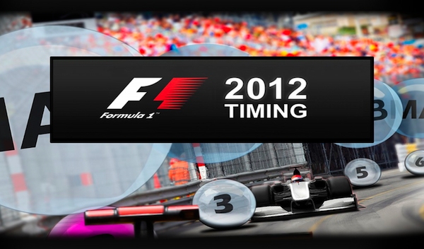 Official F1 2012 Live Timing and Track Positioning app