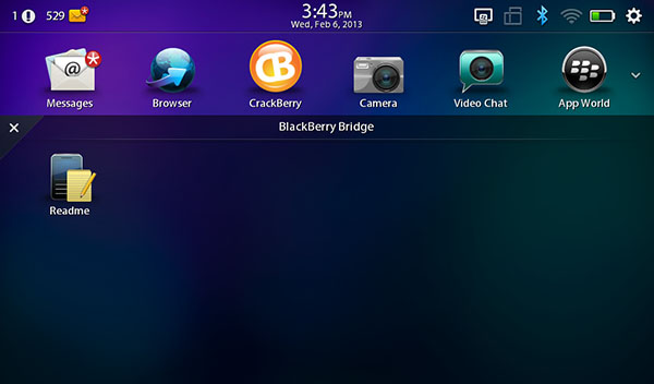 BlackBerry Bridge on BlackBerry 10 - Dumbed down and not as useful