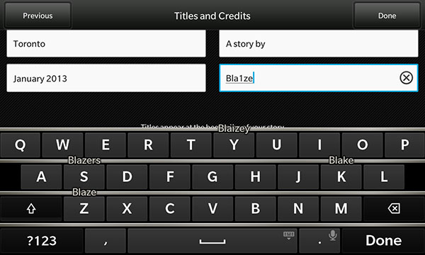 Adding Title Pages In Story Maker