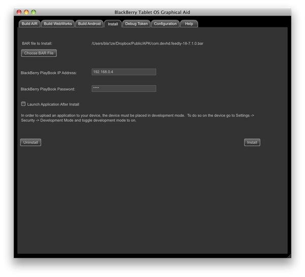 Install Bar Files