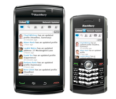 LinkedIn for BlackBerry updated- Now includes support for Pearl and Storm users