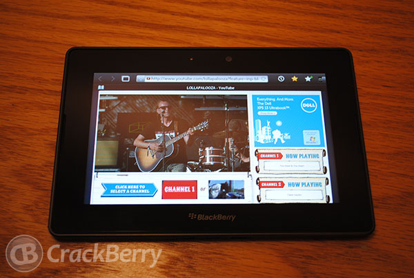 Take in the Lollapalooza music festival this weekend using your BlackBerry PlayBook