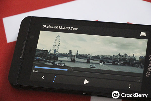 BlackBerry 10 supports MKV files with AC3 audio unofficially