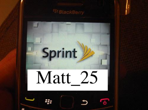 Sprint Branded BlackBerry 9650 Essex Spotted