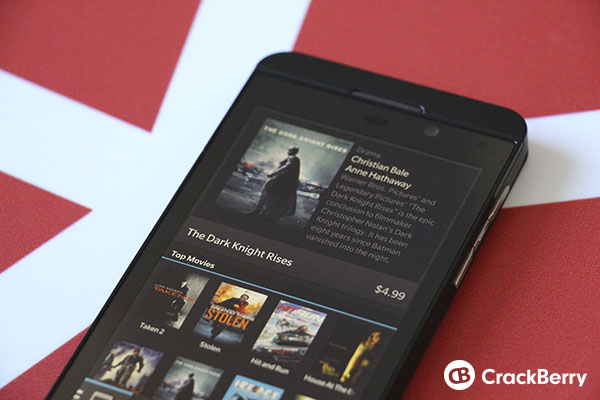 Purchasing Movies and TV Shows On BlackBerry 10