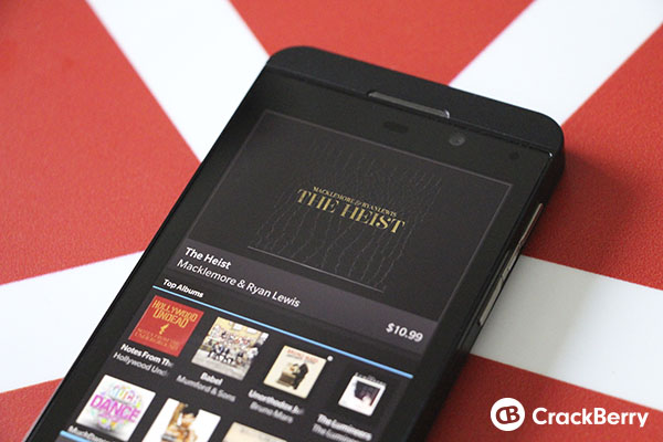 How to purchase music from BlackBerry World on BlackBerry 10