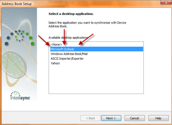 Outlook Sync Selection!