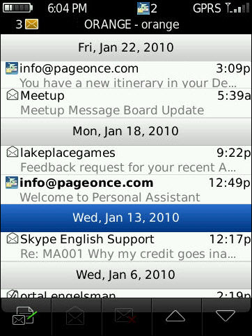 Pageonce Personal Assistant 2.5 Now Offering Push Notifications