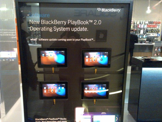 PlayBook 2.0 OS display